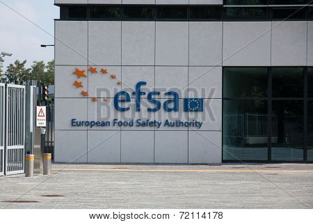 Efsa headquarters. European food safety authority.