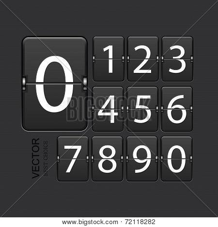 Vector modern numeric scoreboard set.