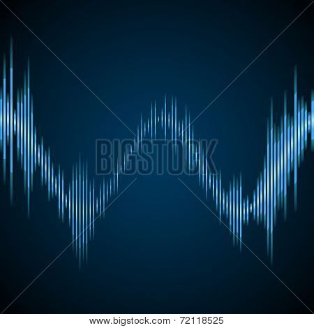 Blue sound wave
