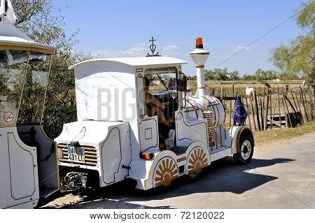 The Locomotive Of The Little Train Ride Saintes-maries-de-la-mer