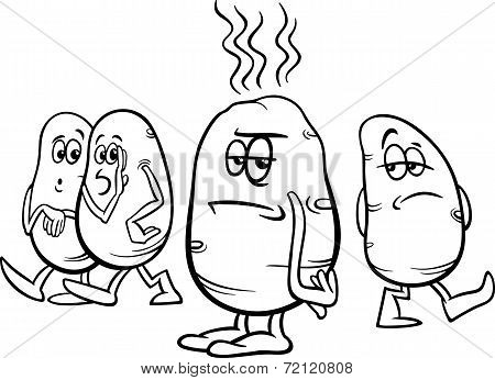 Hot Potato Saying Coloring Page