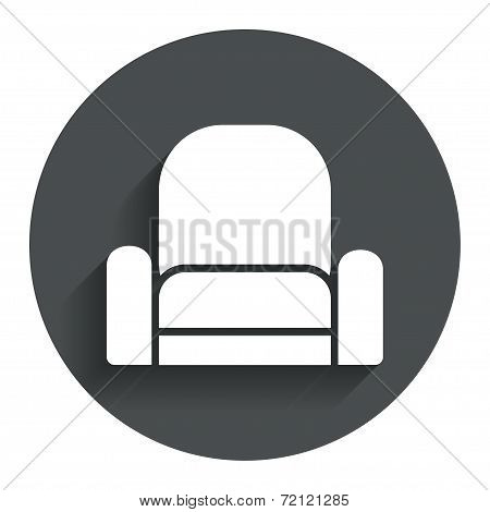 Armchair sign icon. Modern furniture symbol.