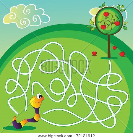 Vector Maze For Children