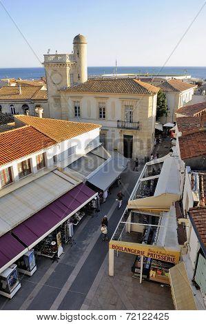 A Pedestrian Street Of Saintes-maries-de-la-mer