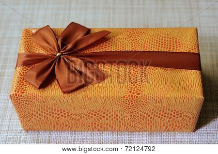 Beautifully Decorated Gift Box With Bow