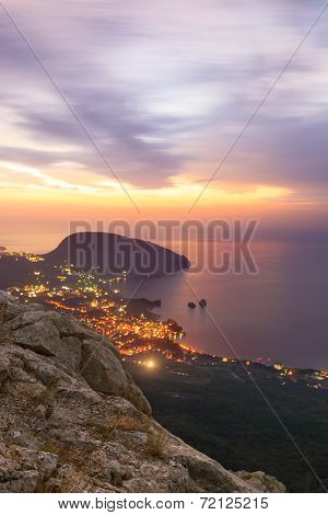Ayuv Dag Mountain And Hurzuf. Crimea, Ukraine
