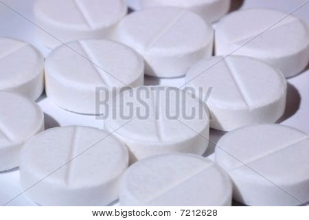 Pills On A White Background