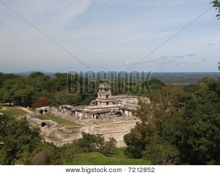Palace And The Observatory In Palenque