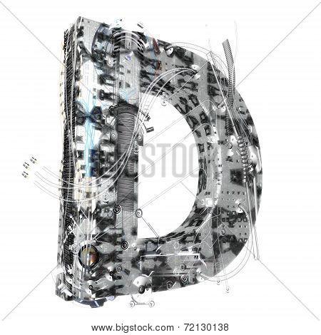 Industrial 3D Letter