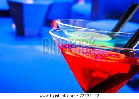 Red Cocktail Drink With Space For Text