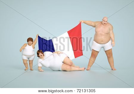 France obesity concept
