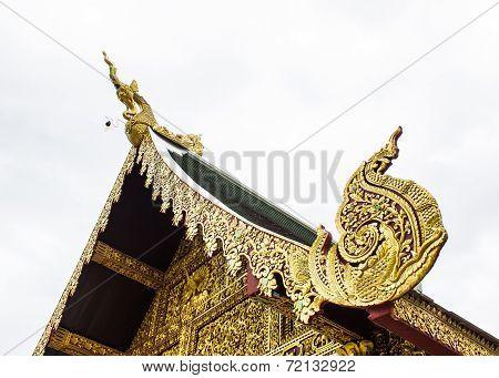 Hussadeeling Statues Gable Apex, Lanna Style Thailand