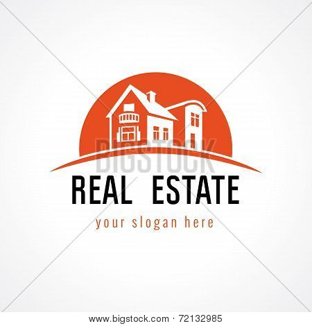 Real estate logo sun
