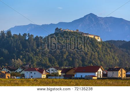 Rasnov Fortress And Bucegi Mountains, Romania