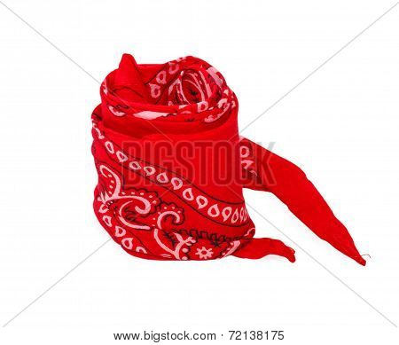 Twisted Red Bandana