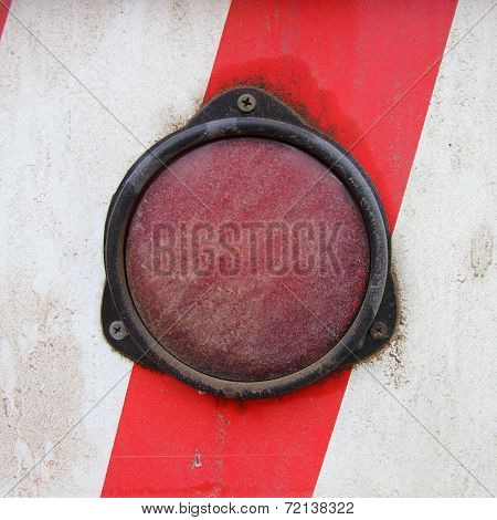 Light Truck On A Red Strip White Wall