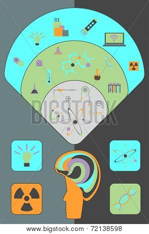 Flat vector set for science
