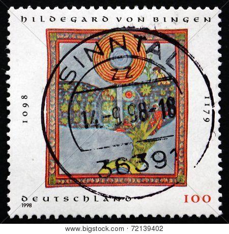 Postage Stamp Germany 1998 Hildegard Von Bingen