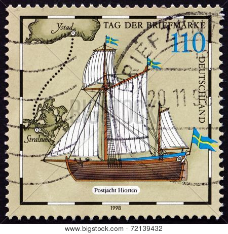 Postage Stamp Germany 1998 Swedish Mail Boat, Hiorten