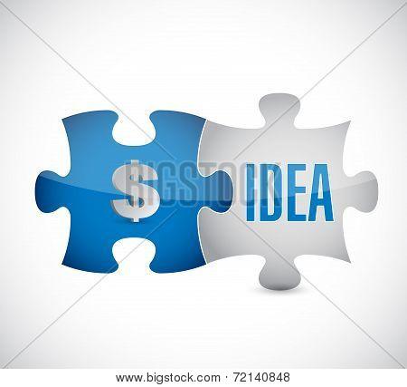 Money Idea Puzzle Pieces Illustration