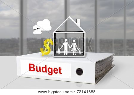 Office Binder Budget House Family Dollar Symbol