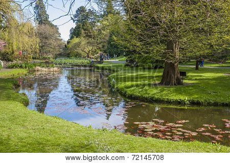 Beautiful Lake In The National Botanic Gardens In Dublin
