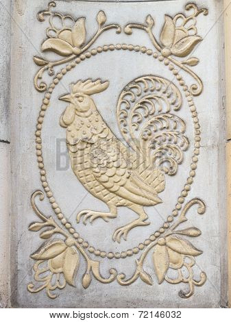 Bas-relief With A Cock