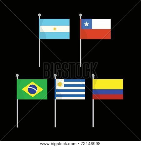 Flags South America