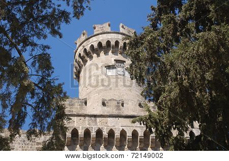 Round Tower In The Palace Of The Grand Master, Rhodes