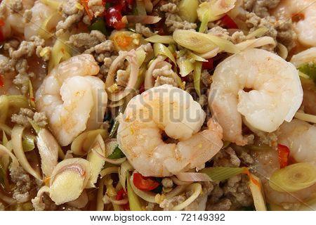 Thai Spicy Lemongrass Shrimp