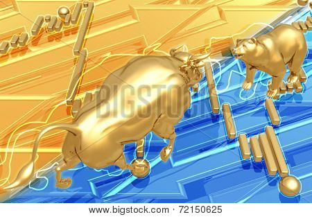 3D Market Abstract