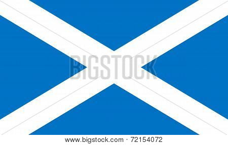 Flag of Scotland. Saint Andrew's Cross