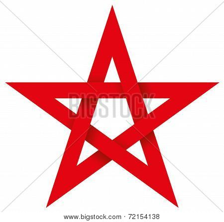 Red Pentagram 3D