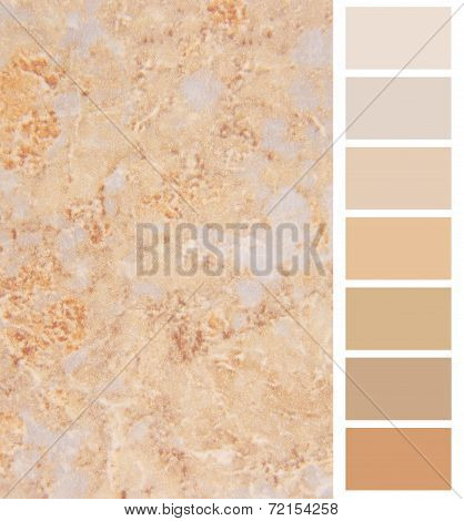granite ivory color palette selection for interior