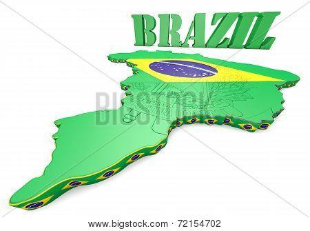 Map Illustration Of Brazil