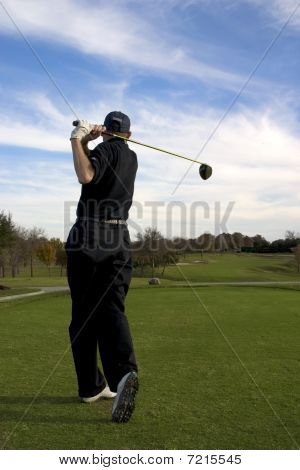 Golfer fairway