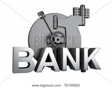 Bank Vault Closed. Bank Safe, Security Concept