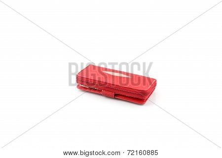 Red Stingray Leather Wallet