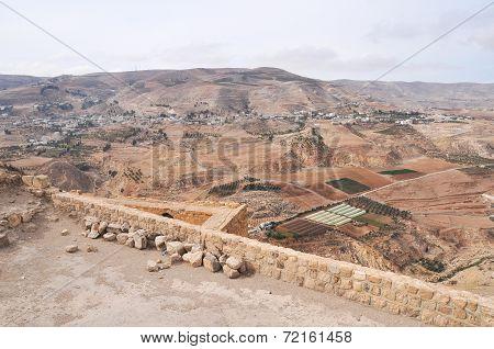 View From Al Karak/kerak Crusader Castle, Jordan