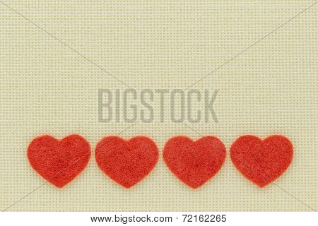 Symbols Of Hearts And Love On A Light Background