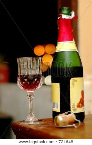 Wine At Romantic Night