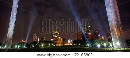 City Of St. Louis Skyline At Night