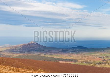 View From Djouce Mountain Towards Sugar Loaf