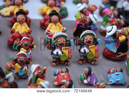 Miniature figures of Bolivian people