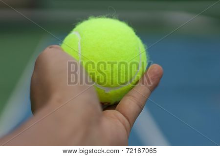 Hand Hole Tennis Ball