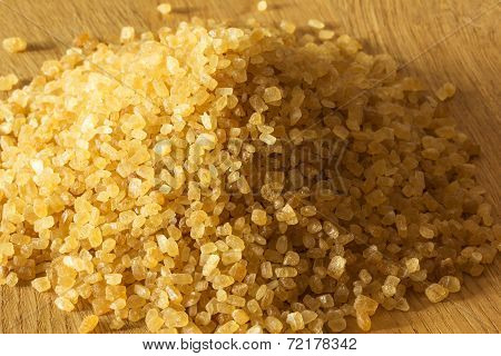 Brown Sugar In The Form Of Background