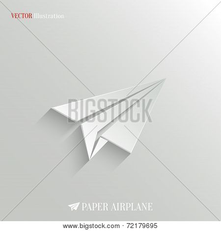Paper Airplane icon - vector web background