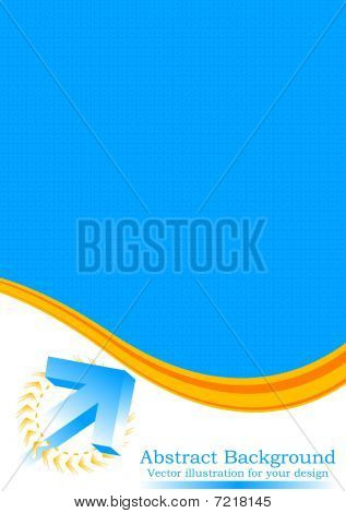 Abstract background with 3d-arrow