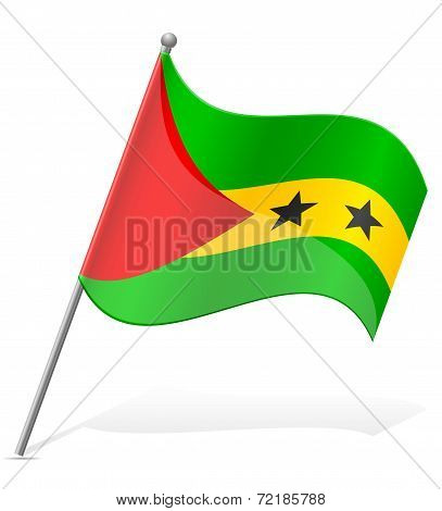 Flag Of Sao Tome Principe Vector Illustration
