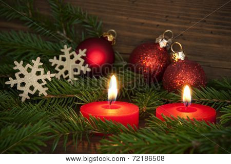 Candles Lighting Christmas Background Szene